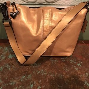Relativity All Leather Gold Purse